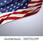 american flag on grey background | Shutterstock . vector #335731199