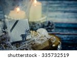 Silver Present Box And Burning...