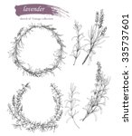 vector set of ink hand drawn... | Shutterstock .eps vector #335737601