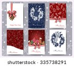 set of christmas  and new year... | Shutterstock .eps vector #335738291