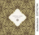 vintage ornate card in eastern... | Shutterstock .eps vector #335741744