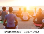Stock photo sunset yoga 335742965
