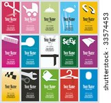 business cards collection.... | Shutterstock .eps vector #33574453