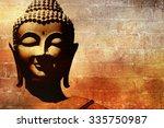 buddha face background | Shutterstock . vector #335750987