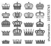 vector silhouette royal crown...   Shutterstock .eps vector #335753765