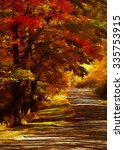 An Autumn Scene Of A Quiet...
