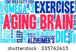 aging brain word cloud on a... | Shutterstock .eps vector #335762615