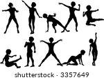 10 female action poses | Shutterstock .eps vector #3357649