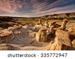 Drumheller Hoodoos At Sunrise...