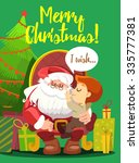 merry christmas greeting card... | Shutterstock .eps vector #335777381