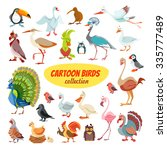 Big Icon Set Of Cute Cartoon...