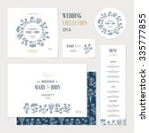 wedding invitation design... | Shutterstock .eps vector #335777855