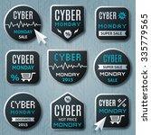 cyber monday promo banner ... | Shutterstock .eps vector #335779565