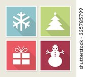 four icons with christmas...   Shutterstock .eps vector #335785799