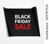 black friday sale banner design.... | Shutterstock .eps vector #335787914