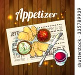 appetizer and aperitive vector... | Shutterstock .eps vector #335789939