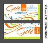 gift voucher template | Shutterstock .eps vector #335794115