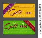 gift voucher template | Shutterstock .eps vector #335794121