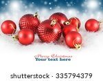 christmas background with red... | Shutterstock . vector #335794379