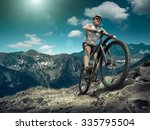 man in helmet and glasses stay... | Shutterstock . vector #335795504