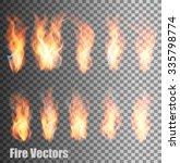 set of transparent flame... | Shutterstock .eps vector #335798774