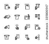 simple set of kiosk terminal... | Shutterstock .eps vector #335800547