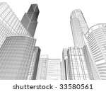 municipal buildings  black and... | Shutterstock .eps vector #33580561