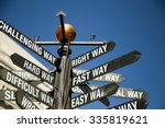 directional signage.  right way ... | Shutterstock . vector #335819621