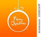 christmas card | Shutterstock .eps vector #335831639