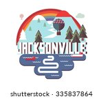 jacksonville in colorful poster ... | Shutterstock .eps vector #335837864