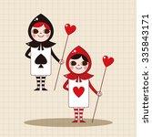 alice in wonderland theme... | Shutterstock .eps vector #335843171