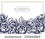 vintage delicate invitation...   Shutterstock .eps vector #335844869
