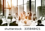 group of architect and engineer ... | Shutterstock . vector #335848421