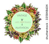 invitation with floral...   Shutterstock .eps vector #335848604