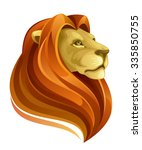 lion head | Shutterstock .eps vector #335850755
