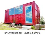 isolated red container office