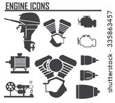 engine icons set vector... | Shutterstock .eps vector #335863457