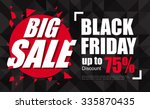 black friday sale inscription... | Shutterstock .eps vector #335870435