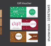 gift voucher. gift certificate. ... | Shutterstock .eps vector #335870645
