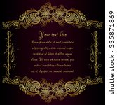 wedding decoration card... | Shutterstock .eps vector #335871869