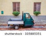 old piaggio ape car  albenga ... | Shutterstock . vector #335885351