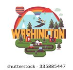 washington  great destination...   Shutterstock .eps vector #335885447
