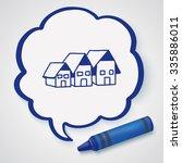 doodle house | Shutterstock . vector #335886011