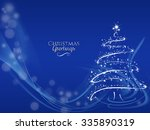 merry christmas tree greeting... | Shutterstock . vector #335890319
