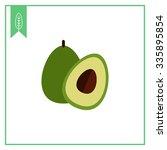vector icon of avocado and cut... | Shutterstock .eps vector #335895854