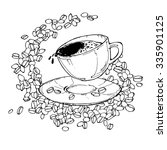 vector illustration with cup of ...   Shutterstock .eps vector #335901125