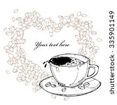 vector illustration with cup of ...   Shutterstock .eps vector #335901149
