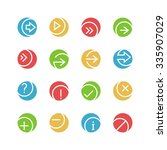 arrows and symbols icon set 2   ... | Shutterstock .eps vector #335907029