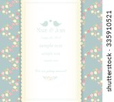 wedding invitation card with... | Shutterstock .eps vector #335910521