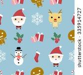 christmas pattern. christmas... | Shutterstock .eps vector #335914727
